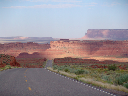 US Scenic 163 Heading Southwest to Monument Valley