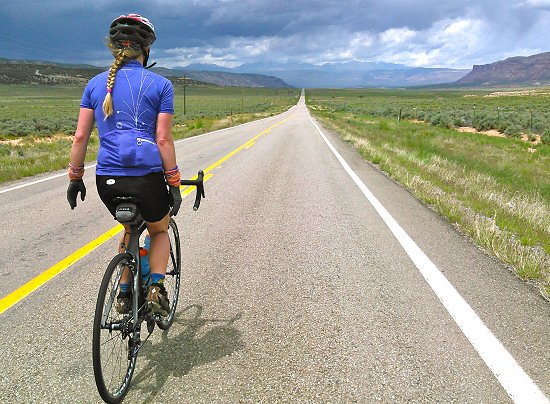 Riding through Paradox Valley