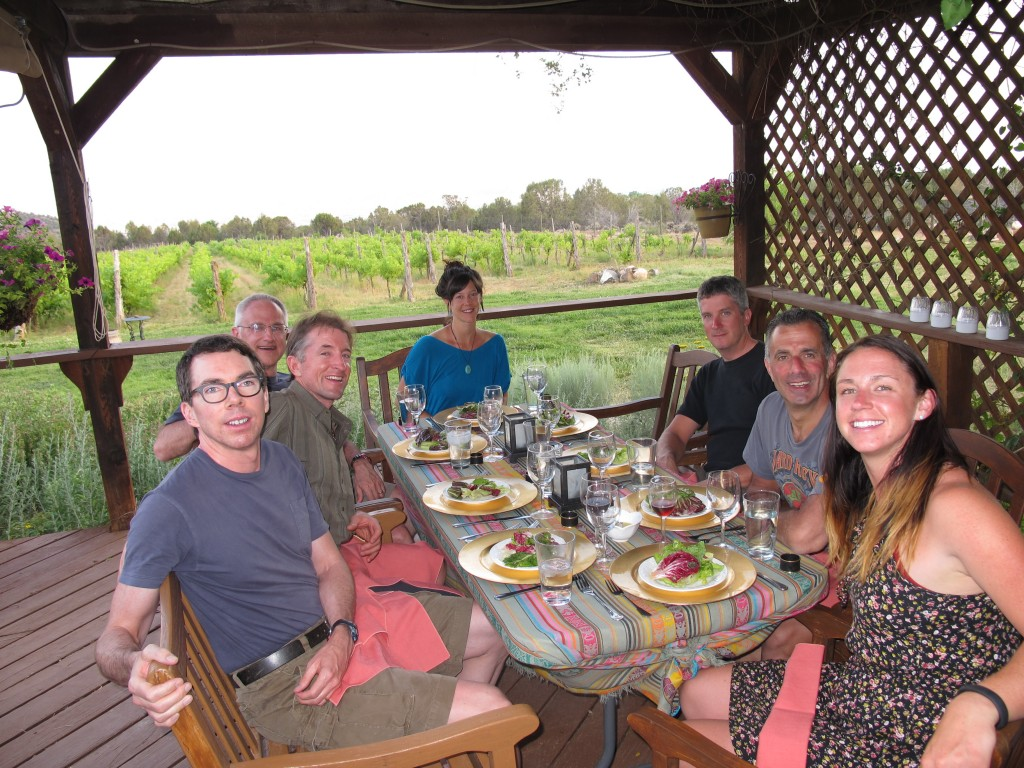 Dinner at Leroux Creek Vineyards