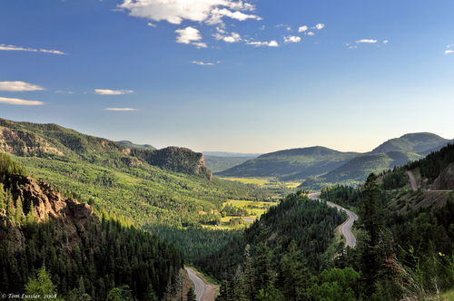 Wolf Creek Pass, Descent to Pagosa Springs