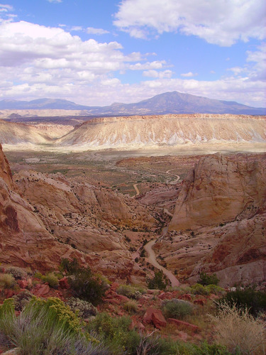 View of Burr Trail and Henrys