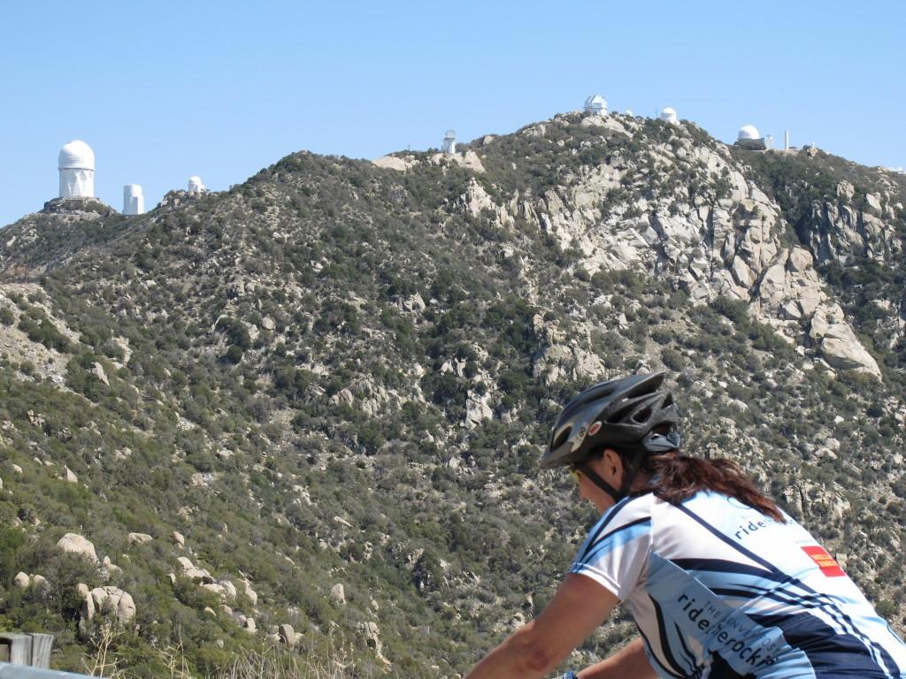 Arizona Bike Tour, Climbing Kitt Peak