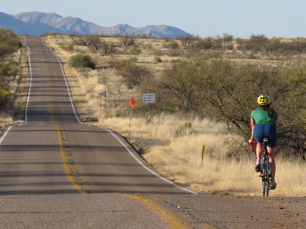 Arizona Bike Tour, quiet roads