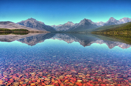The serenity and beauty of Lake McDonald