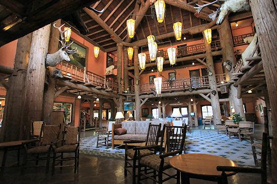 Inside Lake McDonald Lodge
