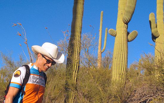 Arizona Bike Tour, Hiking on Day 2