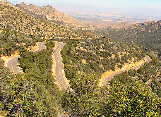 Arizona Bike Tour, The road up Mt. Graham