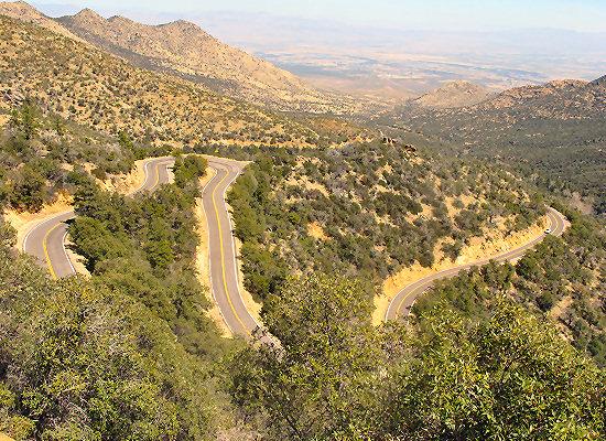 Arizona Bike Tour, The road up Mt. Graham