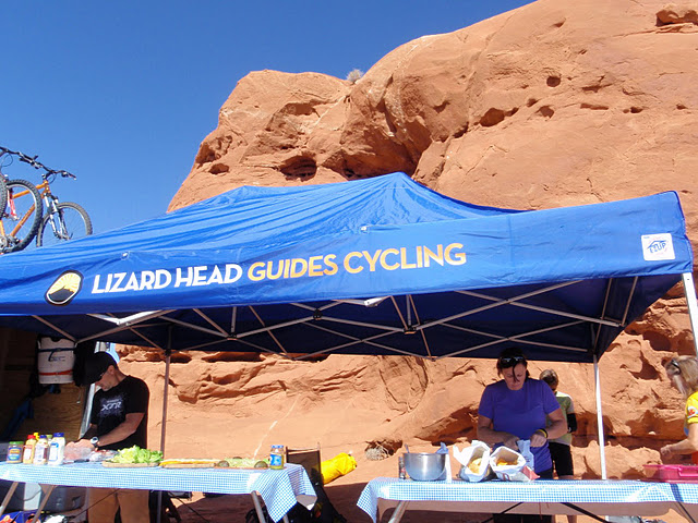Lizard Head Cycling's Fabulous Road Side Lunch Buffet