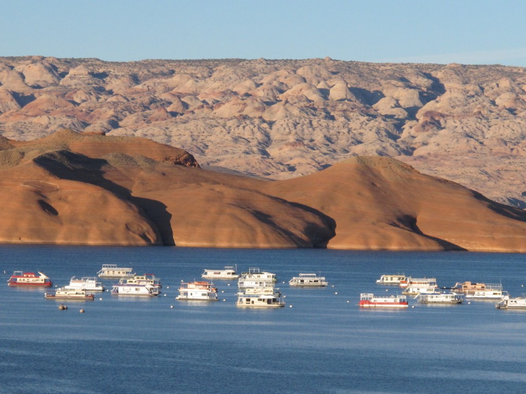 Houseboats Moored in Lake Powell