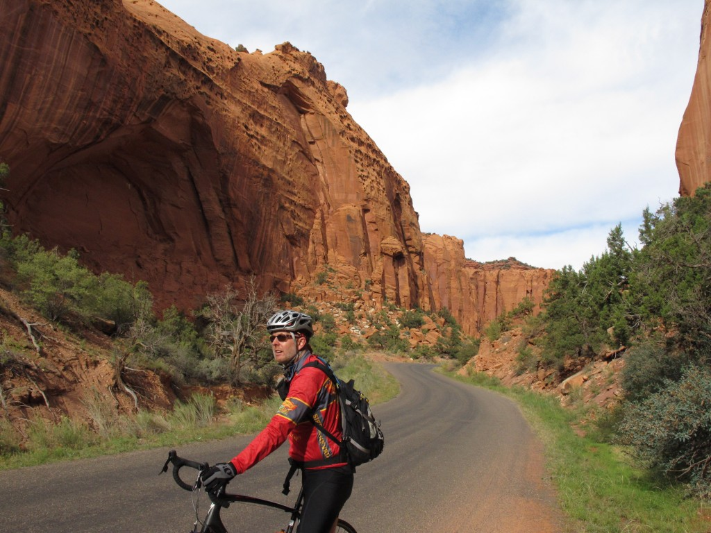 Riding in Long Canyon, Utah