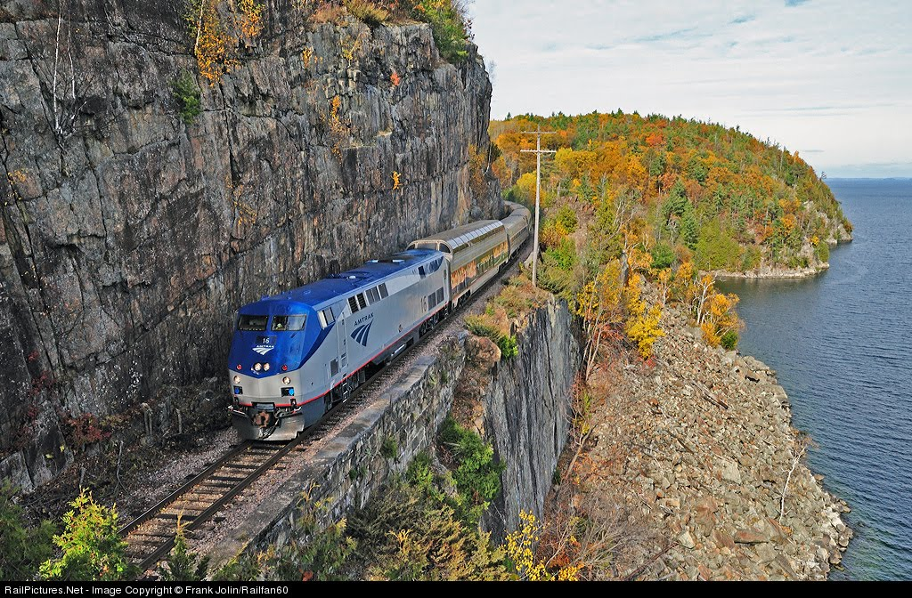 New York and Vermont to Montreal Bike Tour, Amtrak Lake Champlain