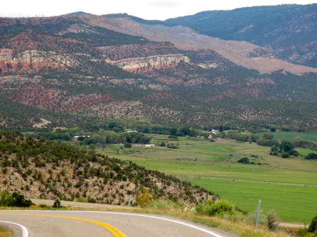 Descending in the Paradox Valley, Colo. on the Colorado-Utah Border
