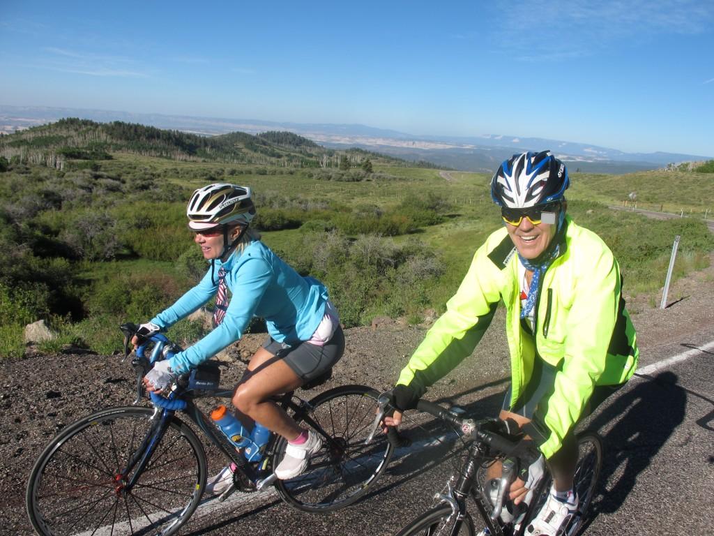 Utah Mountains. Cycling up Boulder Mountain, Utah