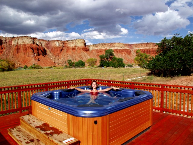 Red River Ranch hot tub