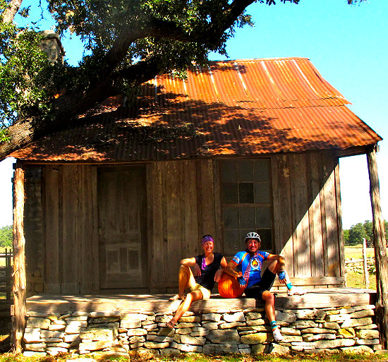 Taking a break near Dripping Springs, Texas