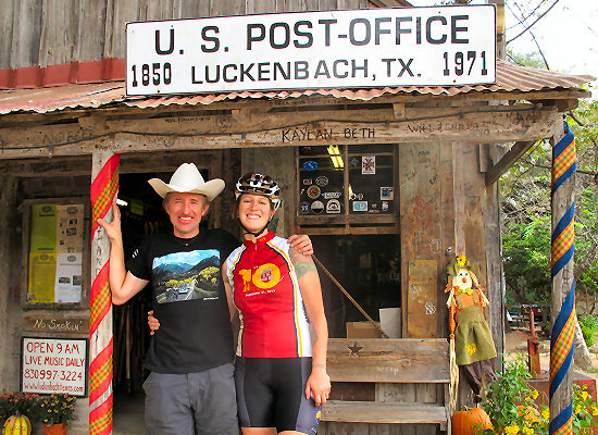 At the Post Office in Luckenbach