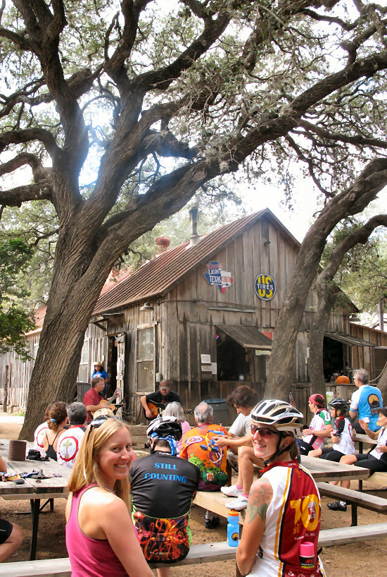 Enjoying the outdoor music in Luckenbach
