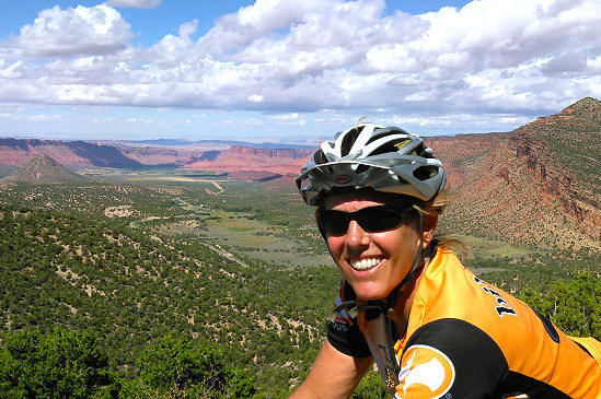 High above Castle Valley on the La Sal Mountain Loop