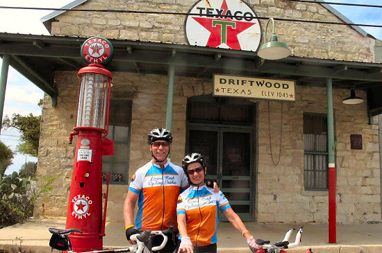 At the historic old gas station on Driftwood, Texas