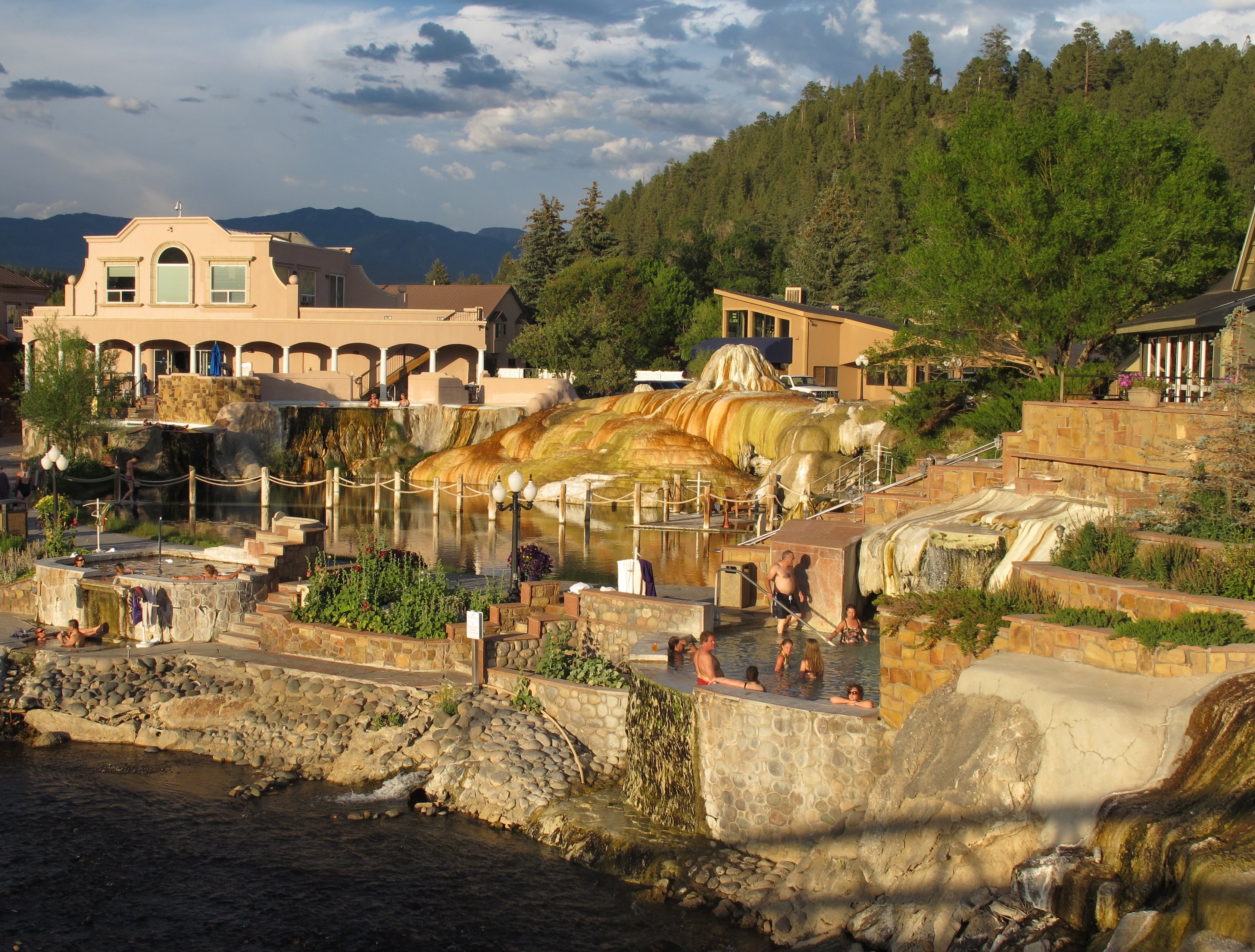 Pagosa Hot Springs on the San Juan River