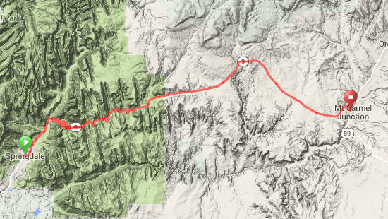 Day 1 Route Map
