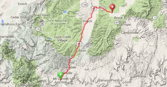 Day 2 Route Map