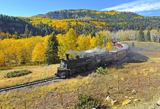 The Cumbres and Toltec Scenic Railroad near Chama, New Mexico