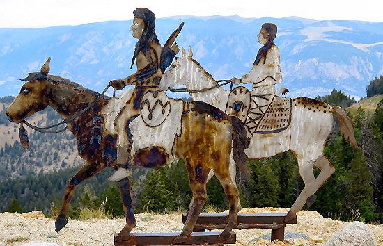 Nez Perce Indians on Dead Indian Pass