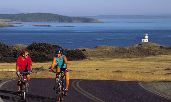 Cycling on San Juan Island