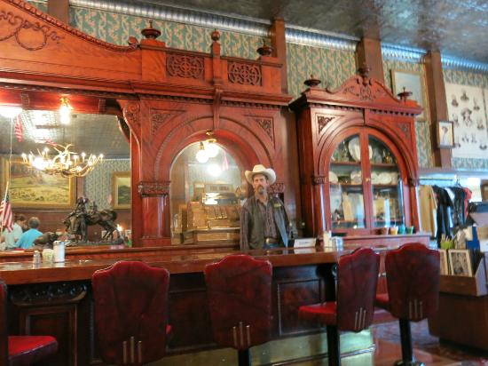 The saloon at Buffalo Bill's Irma Hotel