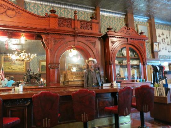 The saloon at Buffalo Bill's Irma Hotel