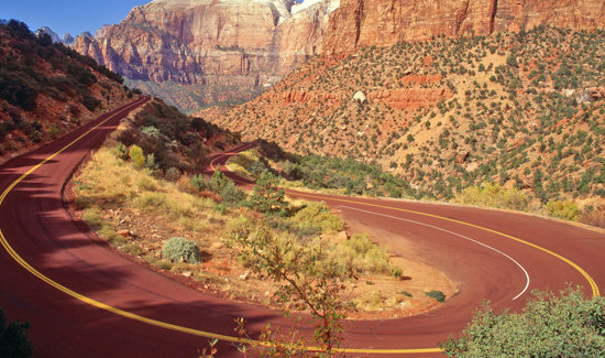 Switchbacks in Zion National Park