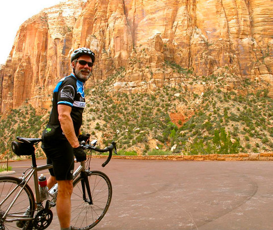 Riding in Zion Canyon