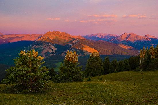 Sunrise over the Anthracite Mountain Range
