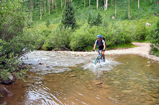 Water crossing on the West Branch Creek