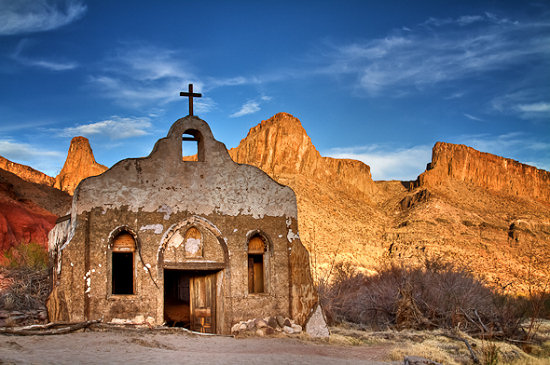 The Contrabando ghost town in Big Bend Texas