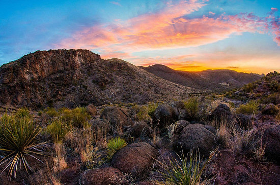 Sunrise in Big Bend Ranch State Park