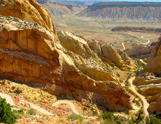 Switchbacks on the Burr Trail