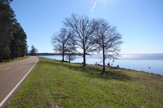 The Natchez Trace along the Ross Barnett Reservoir