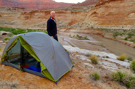 Camping with a view! Trans Utah Hayduke Trail