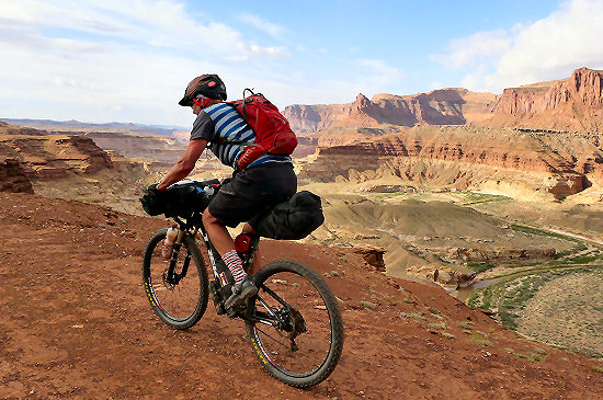 Riding on Day 11 Trans Utah Hayduke Trail