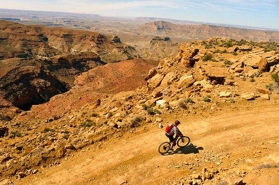 Riding on Day 1 Hayduke Trail