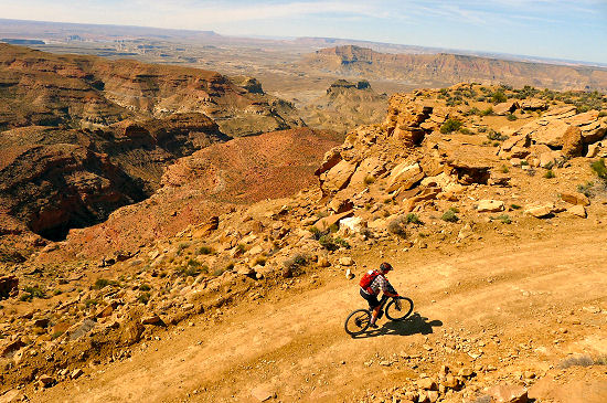 Riding on Day 1 Trans Utah Hayduke Trail