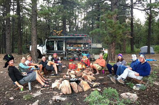 Camping high in the Abajo Mountains