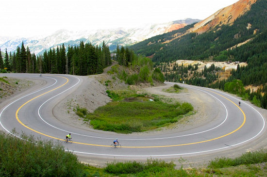 Switchbacks down to Ouray, Colorado