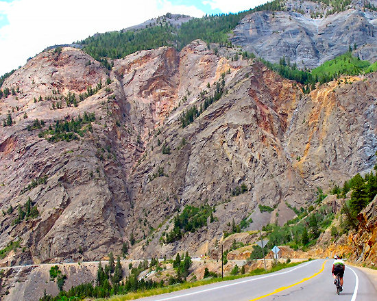 The Uncompahgre Gorge (a.k.a. The Million Dollar Highway)