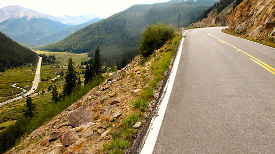 The descent from Independence Pass