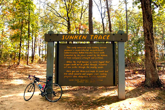 One of the many sections of the Sunken Trace