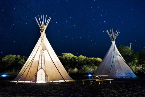 The eclectic El Cosmico in Marfa, Texas